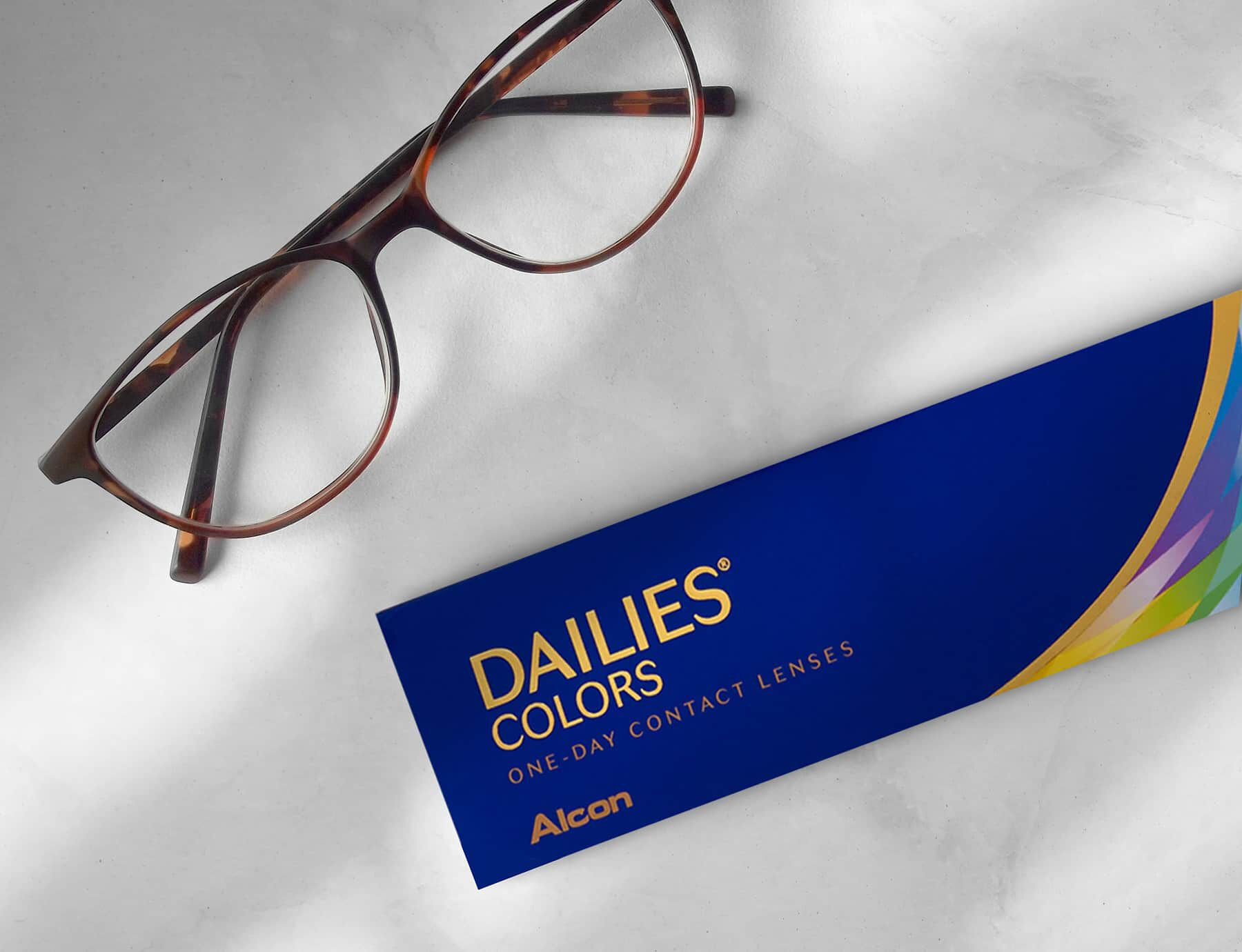Prescription Eye Glasses and Daily Contact Lenses