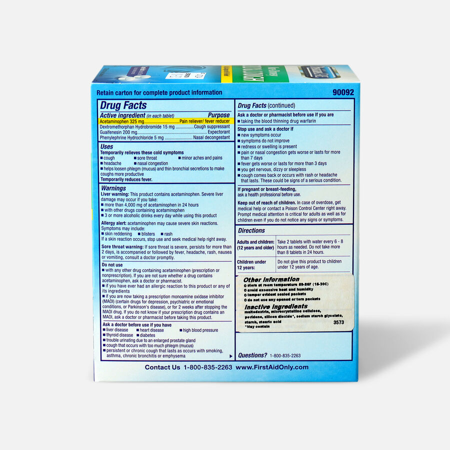 PhysiciansCare Cold and Cough, 100/Box, , large image number 1