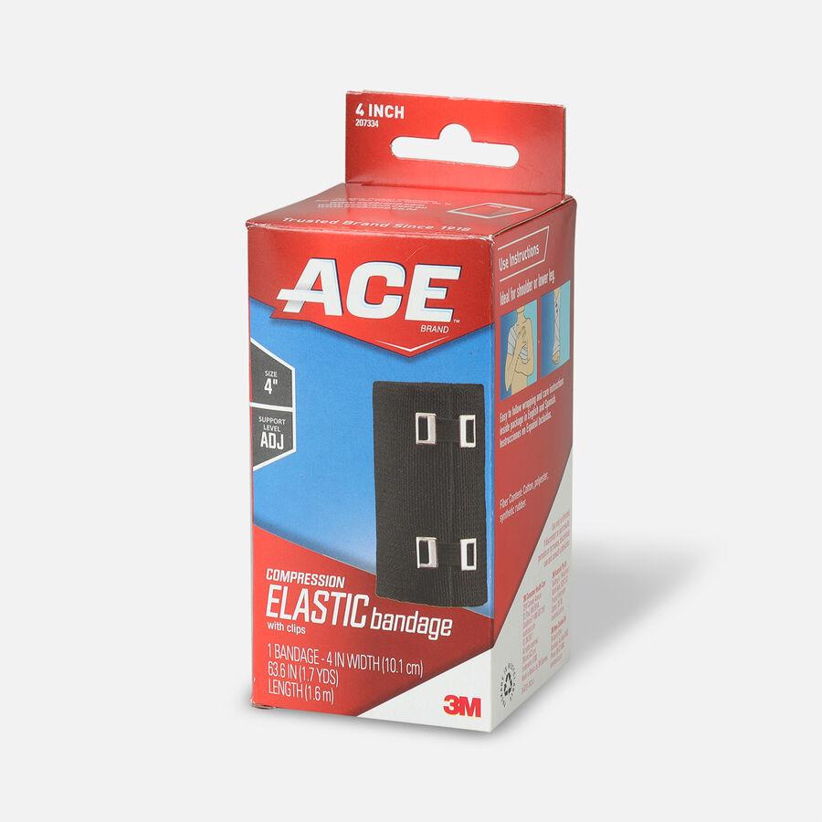 Ace Elastic Bandage with Clips - Black, , large image number 7