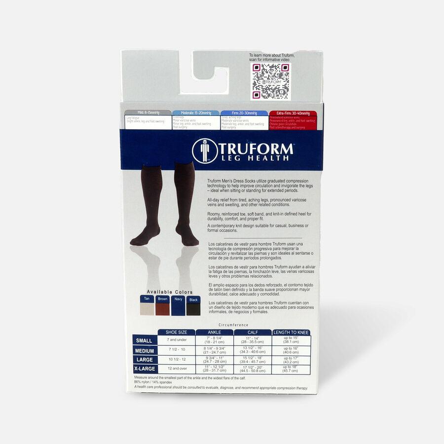Truform Men's Dress Knee High Support Sock, 30-40 mmHg, Closed Toe, Black, , large image number 3