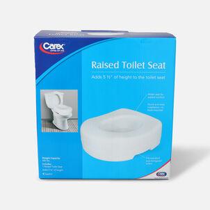 Carex Raised Toilet Seat, 1 seat