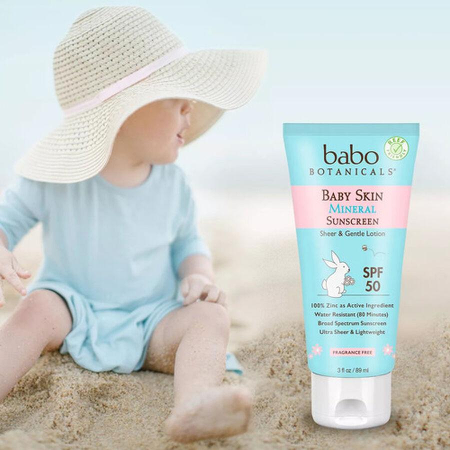 Babo Botanicals Baby Skin Mineral Sunscreen Lotion, SPF 50, 3 fl. oz., , large image number 2