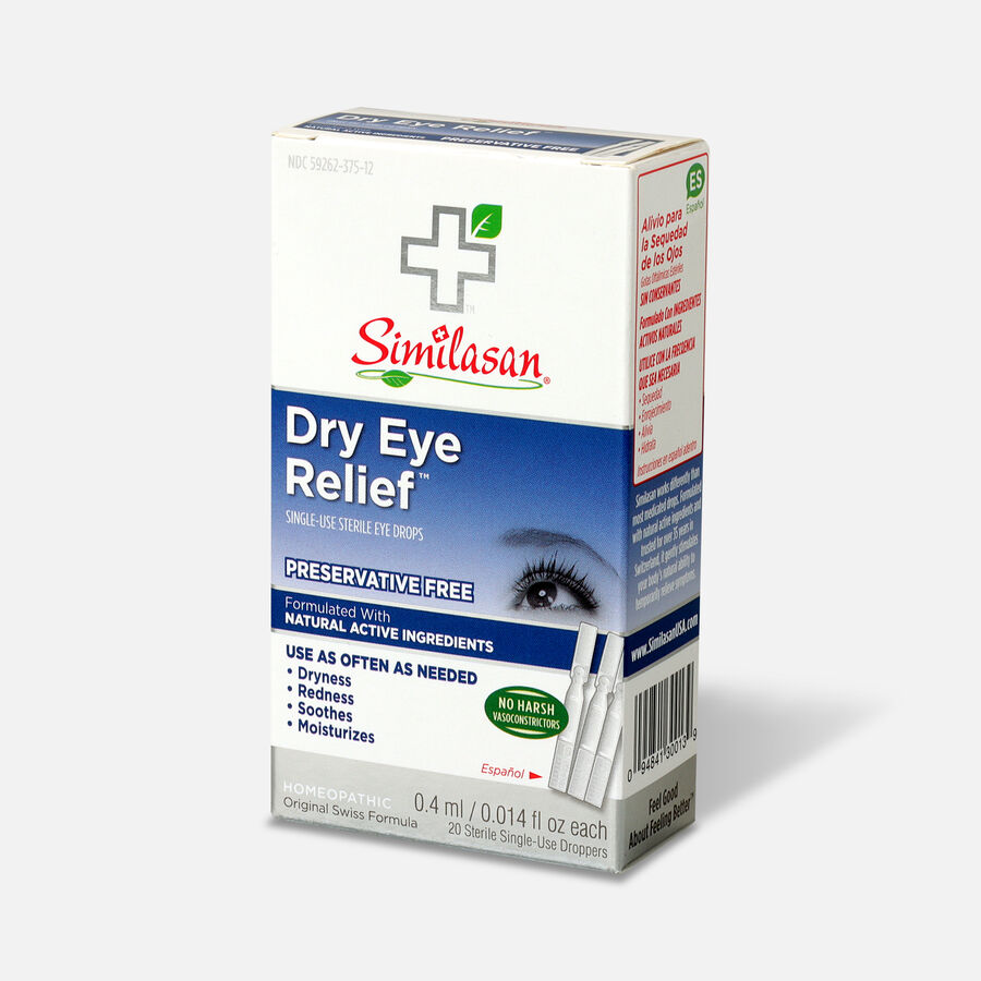 Similasan Dry Eye Relief, 20 Single Use Droppers, 0.014 fl. oz., , large image number 2