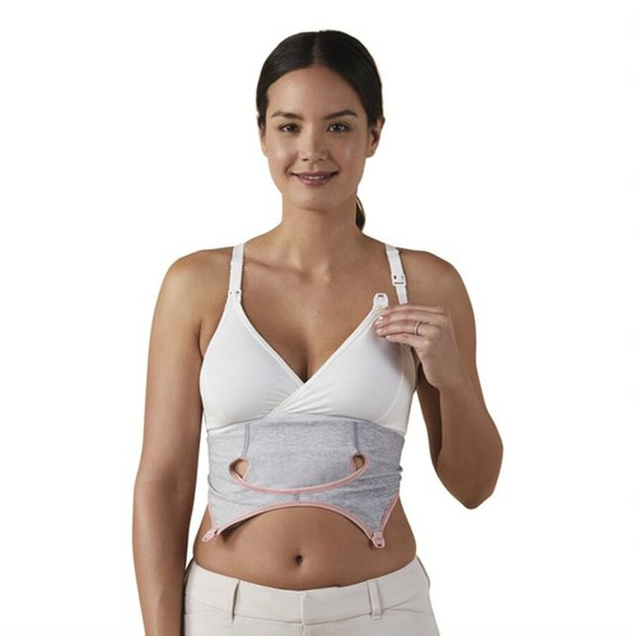 Clip and Pump Hands-Free Nursing Bra Accessory, Dove Heather, , large image number 8