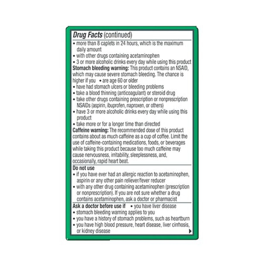 Excedrin Extra Strength Caplets, 100 ct, , large image number 9