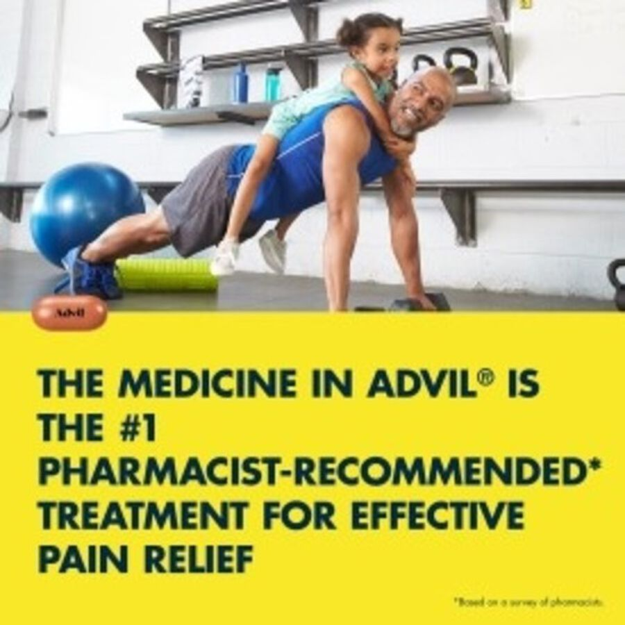 Advil Pain Reliever and Fever Reducer Coated Caplets, 200mg, 100 ct, , large image number 5