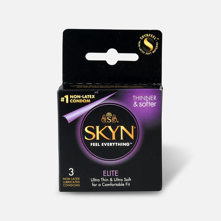 LifeStyles SKYN Elite Non-Latex Condoms, 3 Count, , large image number 0