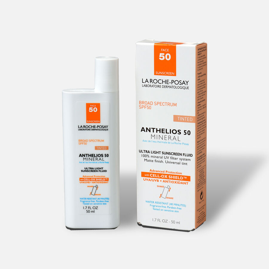La Roche-Posay Anthelios 50 Mineral Sunscreen Tinted for Face, Ultra-Light Fluid SPF 50 with Antioxidants, 1.7oz, , large image number 3
