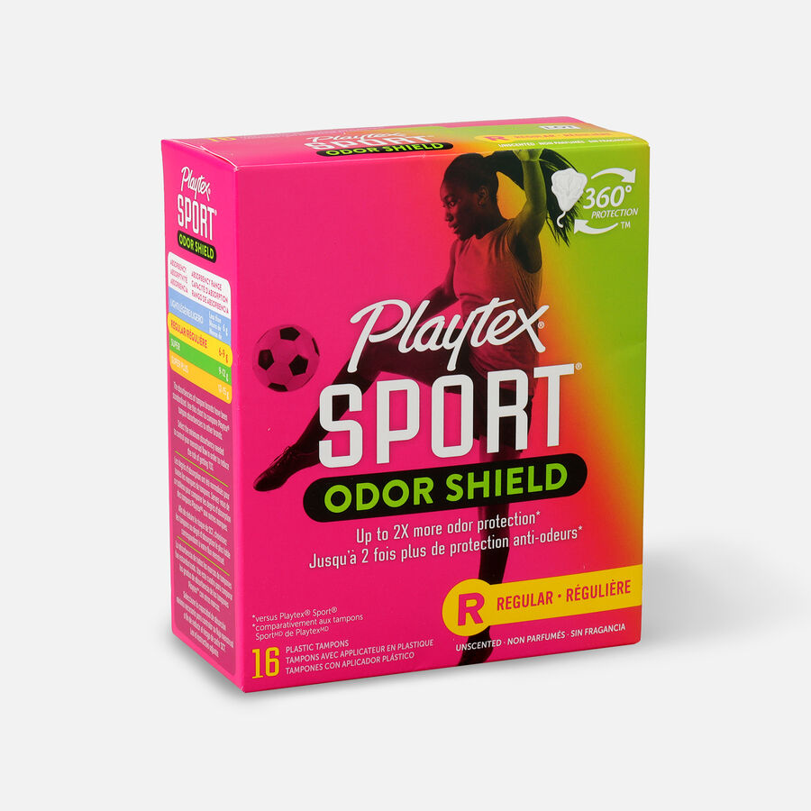 Playtex Sport Odor Shield Regular Tampons, , large image number 2