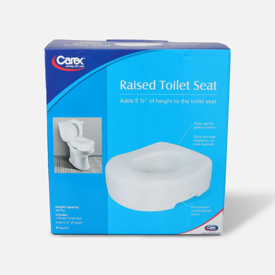 Carex Raised Toilet Seat, 1 seat, , large image number 0