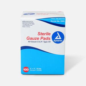 Dynarex Sterile Gauze Pads,12 ply - 100ct