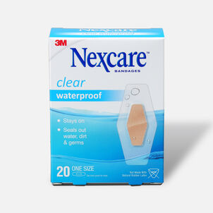 Nexcare Waterproof Clear Bandage, 1 1/16 X 2 1/14, Large, 20 ea