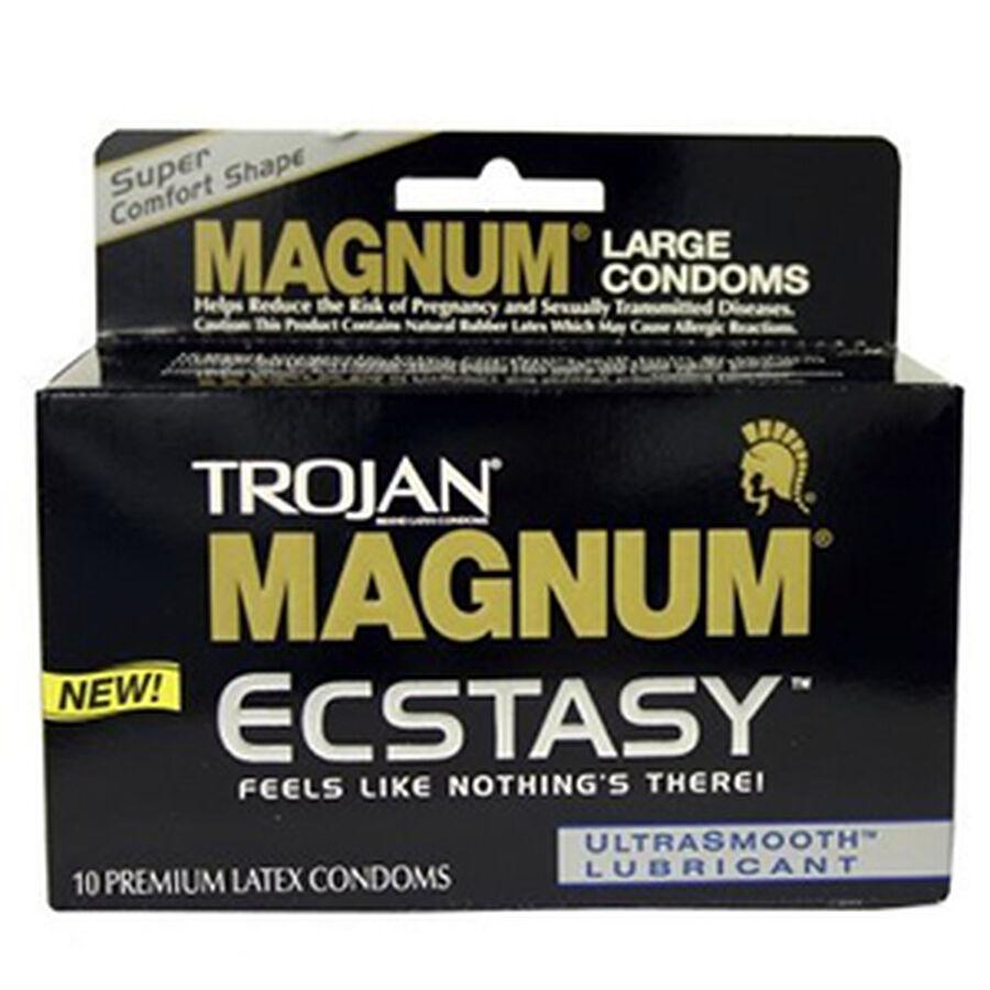 Trojan Magnum Ecstasy, Premium Latex Condoms, 10 ea, , large image number 0