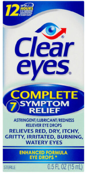 Clear Eyes Complete 7 Symptom Relief Drops, .5 oz