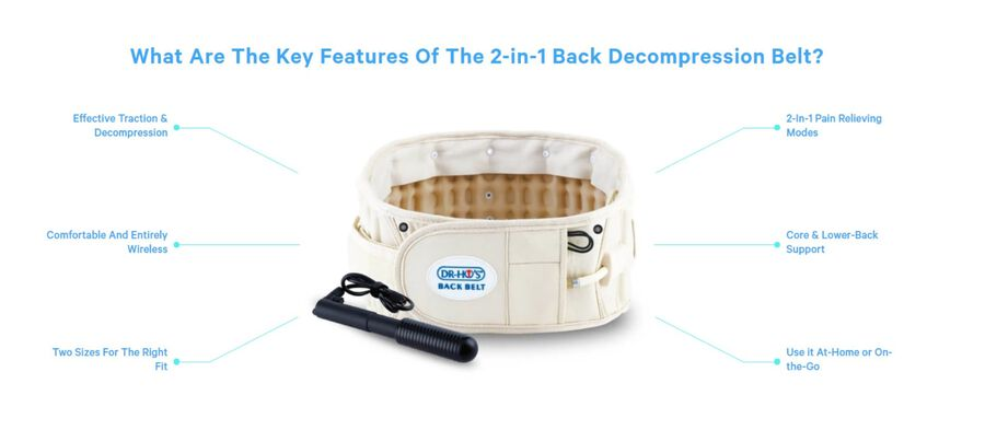 Dr-Ho's 2-in-1 Back Decompression Belt (Size A 25 to 41 inches), , large image number 5