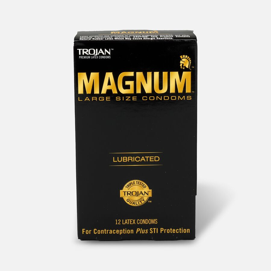 Trojan Magnum Lubricated Latex Condoms, Large 12 ea, , large image number 0