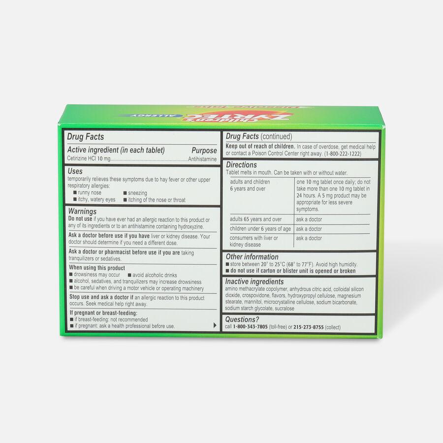 Children's Zyrtec Allergy Dissolve Tablets, Citrus Flavored, , large image number 3