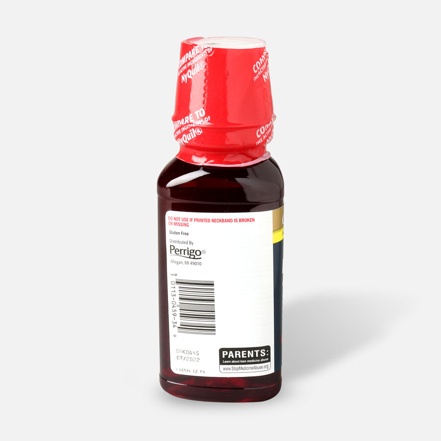 GoodSense® NightTime Cold and Flu Relief, Cherry Flavor, 8 fl oz, , large image number 2