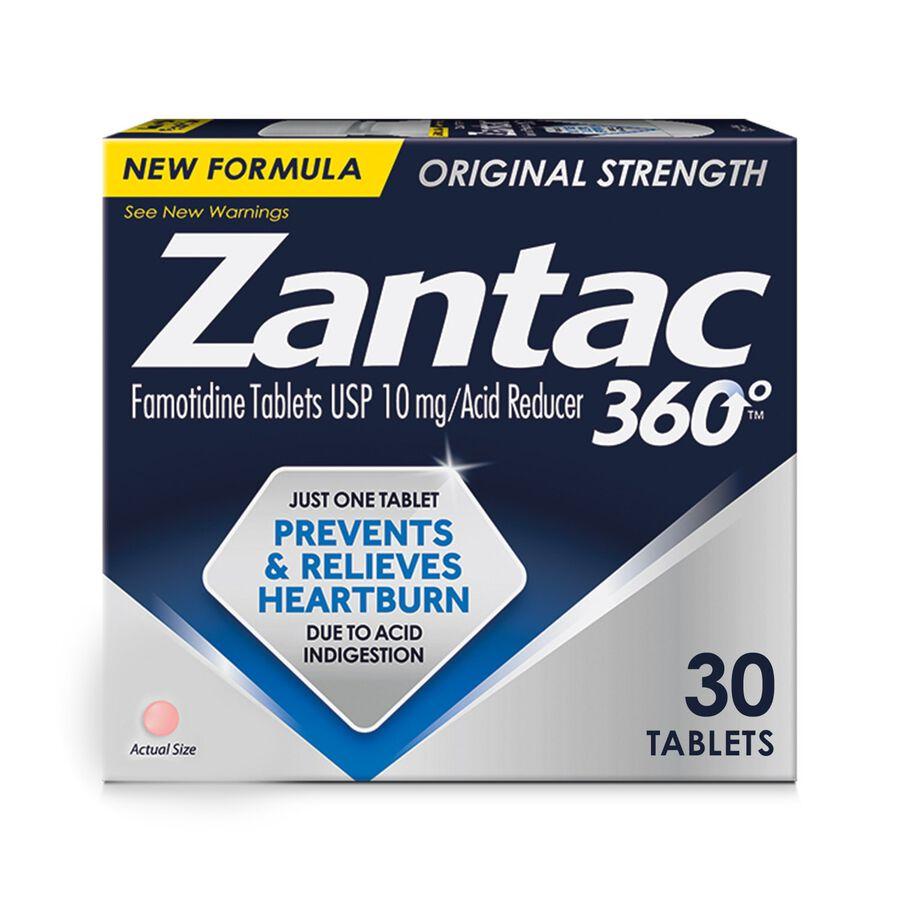 Zantac 360 Maximum Strength Acid Reducer, 10 mg Tablets, 30 ct, , large image number 0