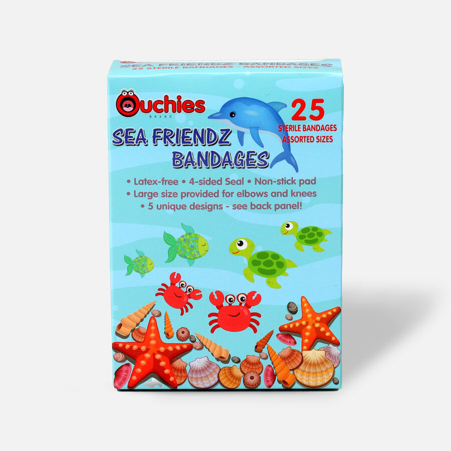 Ouchies Sea Friendz Bandages for Kids, 25 ct, , large image number 0