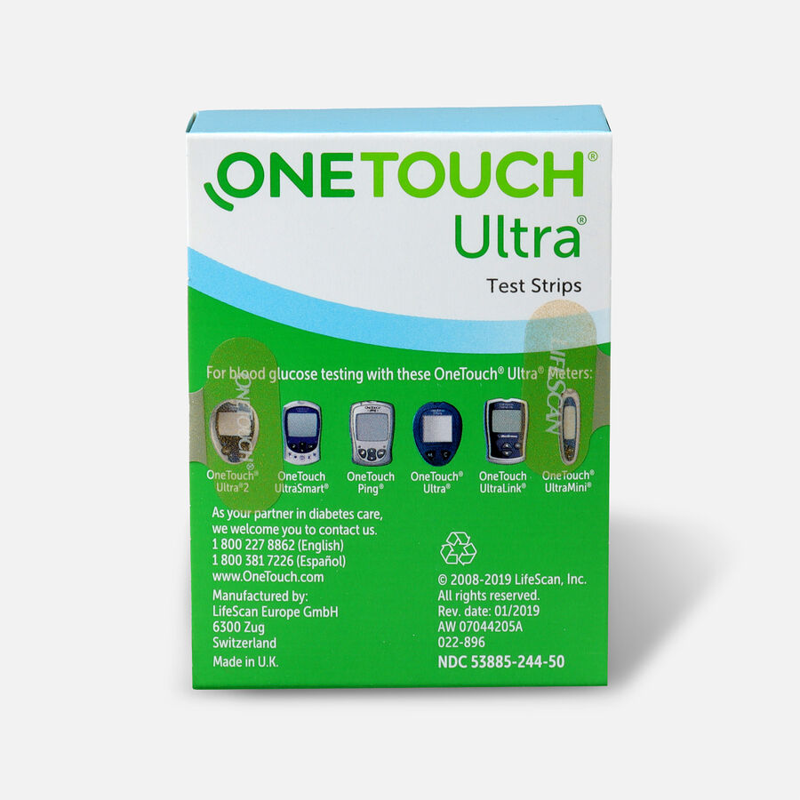 OneTouch Ultra Blue Blood Glucose Test Strip (50 count), , large image number 1