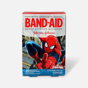 Band-Aid Adhesive Bandages, Spiderman, Assorted Sizes, 20 ct.