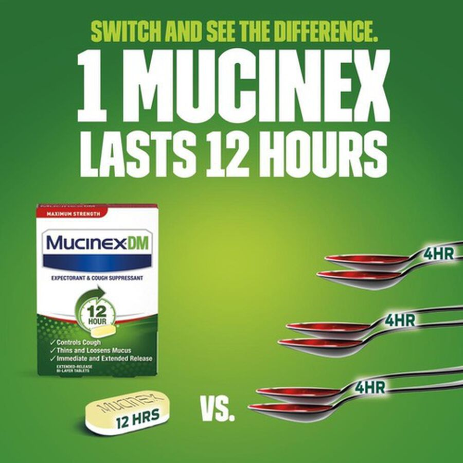 Mucinex Max Strength Extended Release Bi-Layer Tablets, 14 ct, , large image number 3