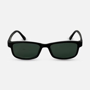 Sunglass Reader with Magnetic Detachable Polarized Lens, +2.00, Black/G15