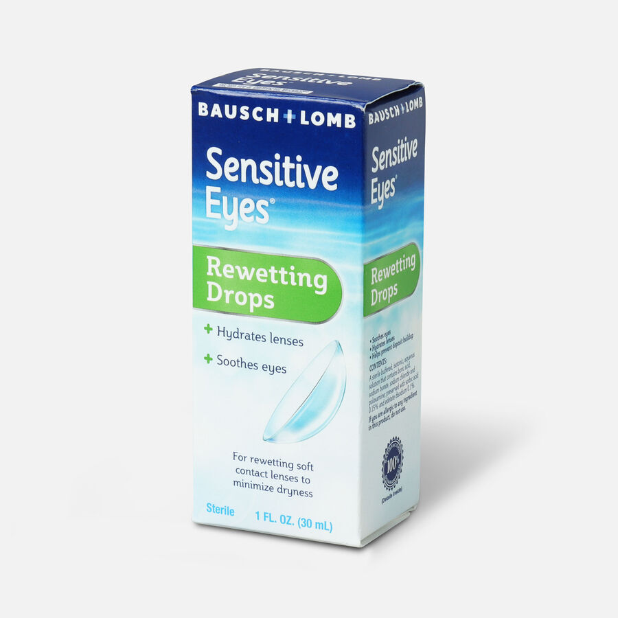 Sensitive Eyes Drops for Rewetting Soft Lenses to Minimize Dryness, 1 fl oz, , large image number 2