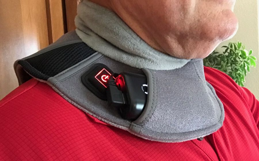 Battle Creek Embrace ™ Relief Neck Wrap – Portable, 3 Temperature Settings, Auto Shut Off, Wireless & Rechargeable Wrap, Battery-Operated Heat Therapy Wrap for Neck Pain Relief, , large image number 3