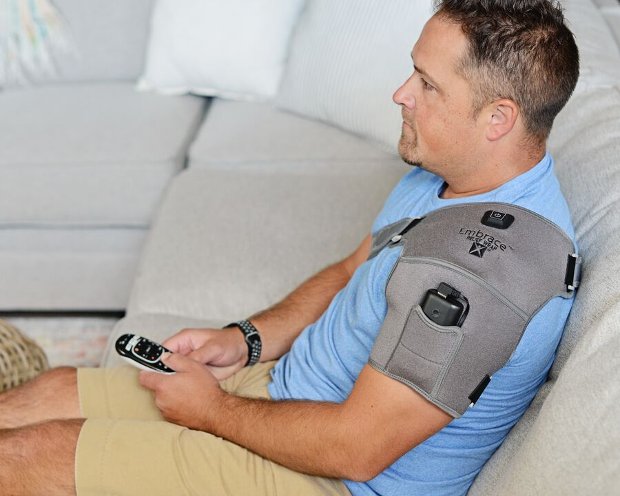 Battle Creek Embrace ™ Relief Shoulder Wrap – Portable, 3 Temperature Settings, Auto Shut Off, Wireless & Rechargeable Wrap, Battery-Operated Heat Therapy Wrap for Rotator Cuff and Shoulder Pain Relief, , large image number 20