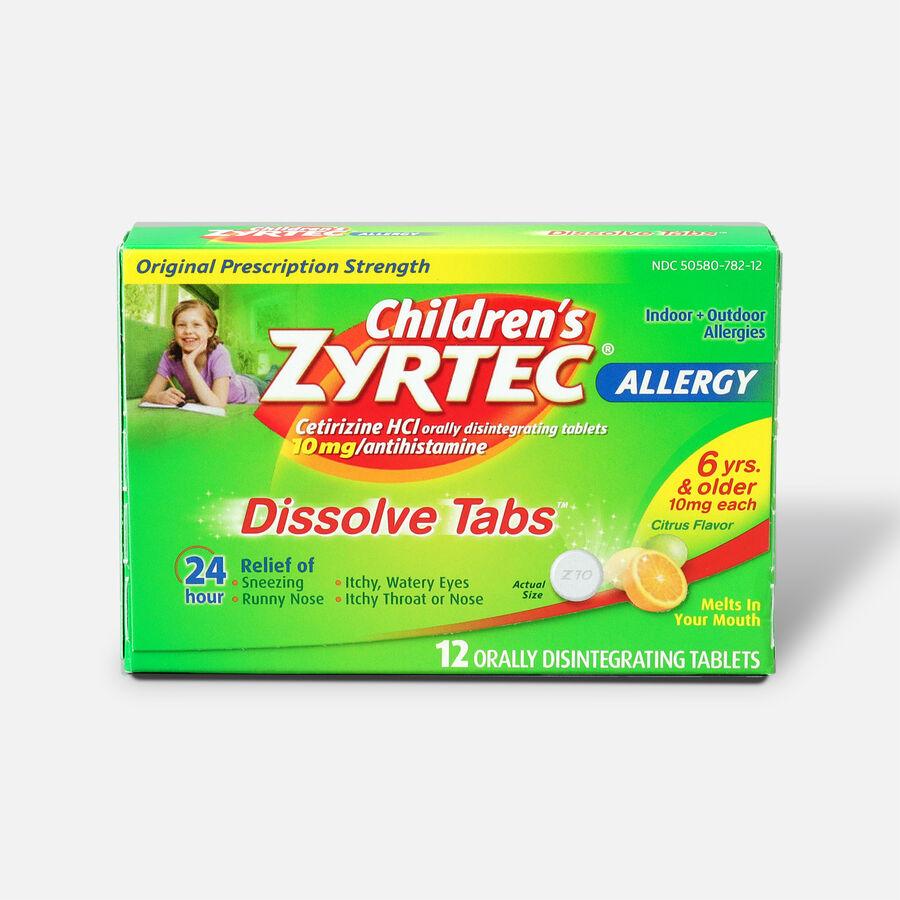 Children's Zyrtec Allergy Dissolve Tablets, Citrus Flavored, , large image number 0