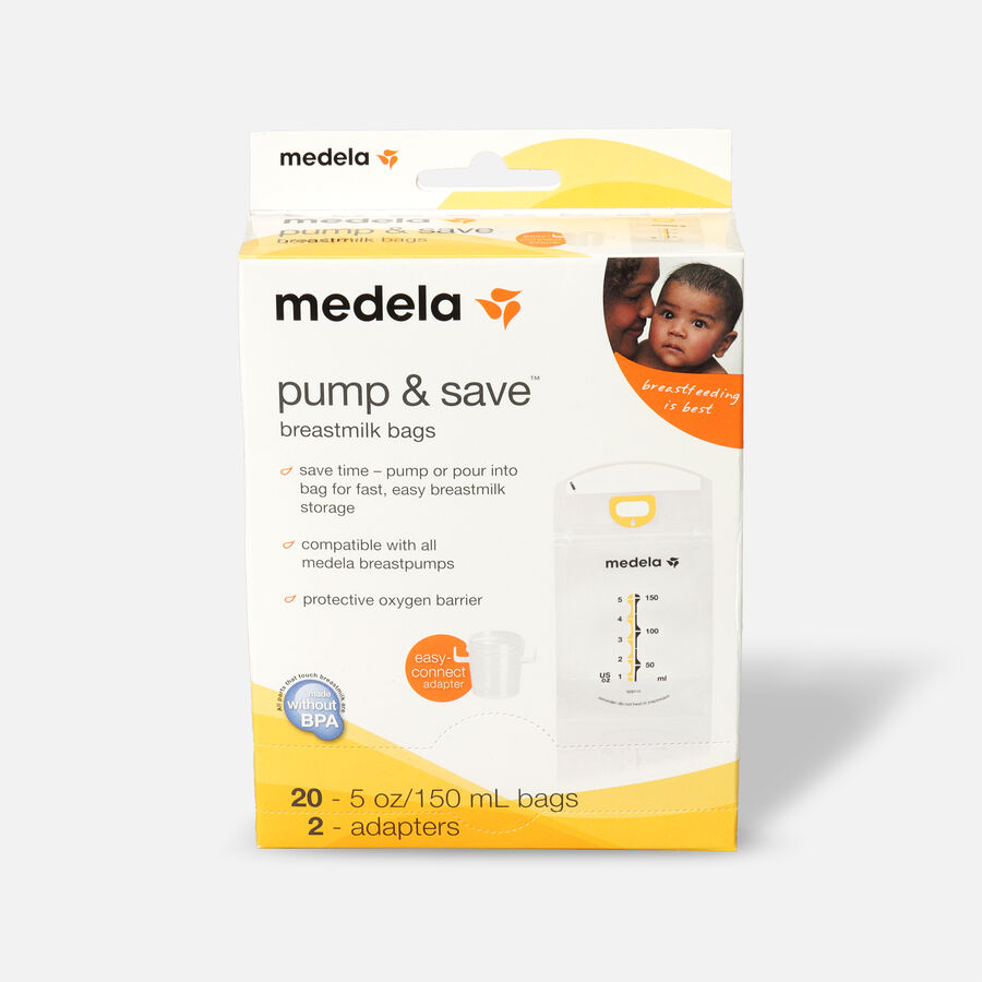 Medela Pump & Save Breast Milk Bags, 20 pack, , large image number 0