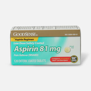 GoodSense® Low Dose Safety Coated Aspirin 81 mg 120 tablets