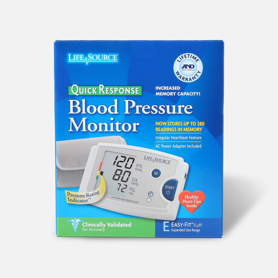 LifeSource UA-787EJ Quick Response Arm BP Monitor with Easy-Fit Cuff, , large image number 0