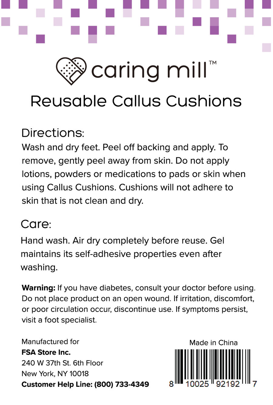 Caring Mill™ Reusable Callus Cushions 12 ct, , large image number 1