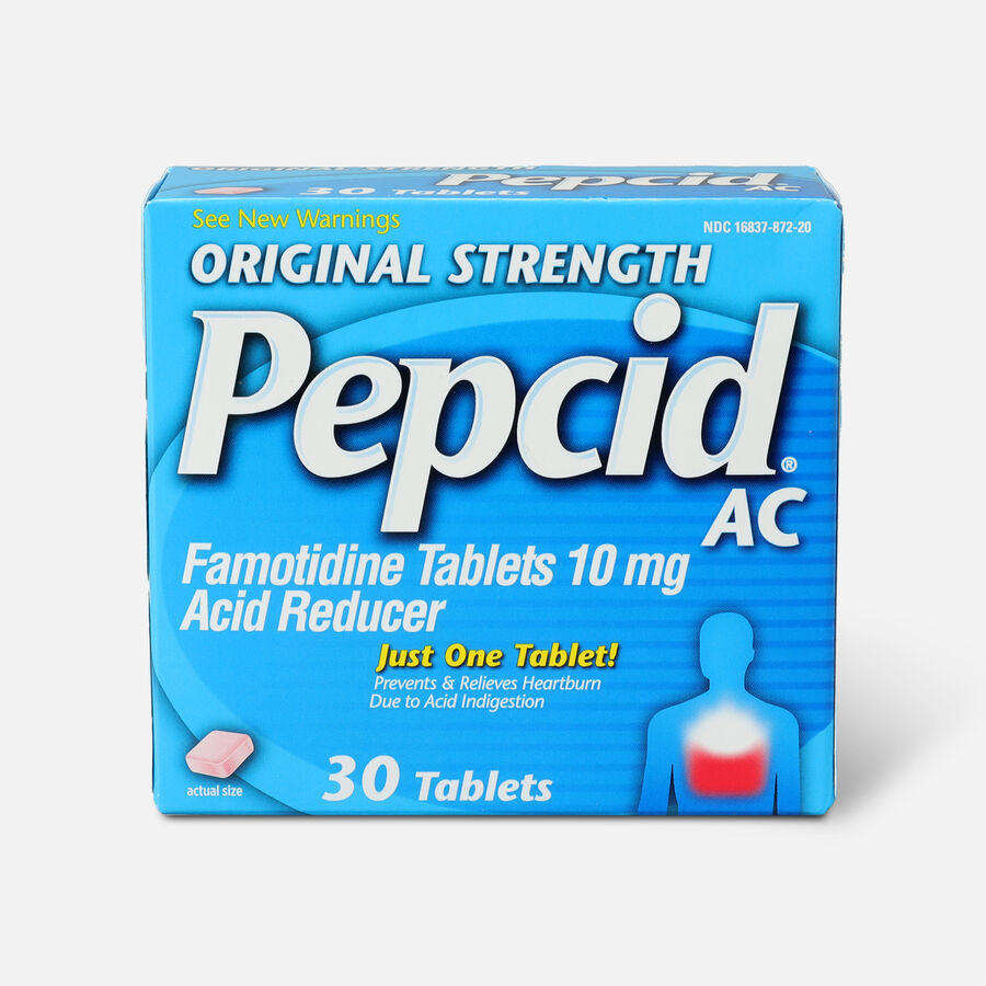 Original Strength PEPCID AC Tablets, 30 Count, , large image number 0