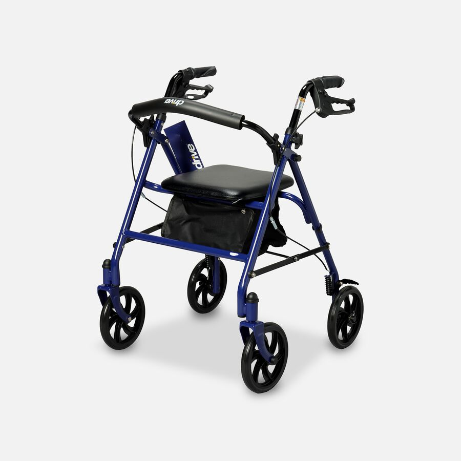 """Drive Durable Four Wheel Rollator, 7.5"""" Casters, , large image number 0"""
