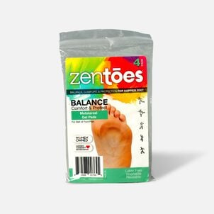 ZenToes Metatarsal Pad Gel Cushions, Adhere to Shoes - 4 Pack