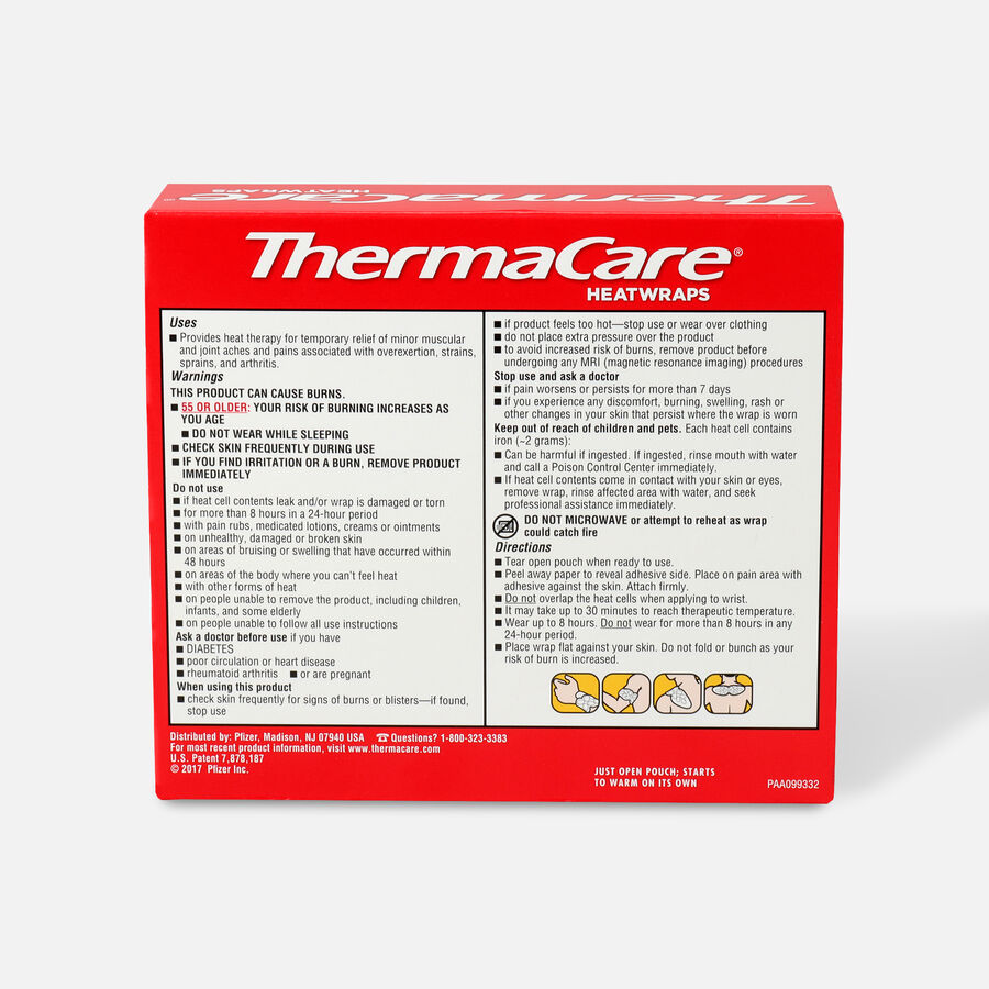 Thermacare Heat Wrap Neck, Shoulder and Wrist, 8HR, 3 ct, , large image number 1