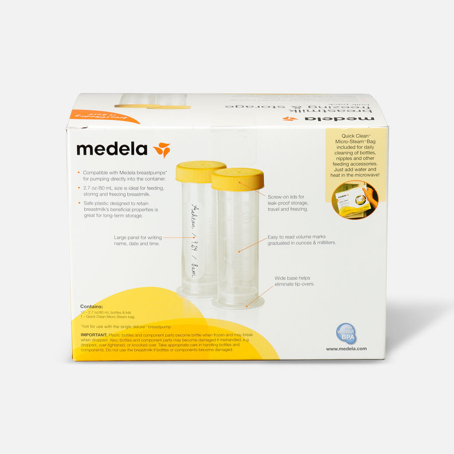 Medela 80 mL Breast Milk Freezing & Storage, 12 Pack, , large image number 1