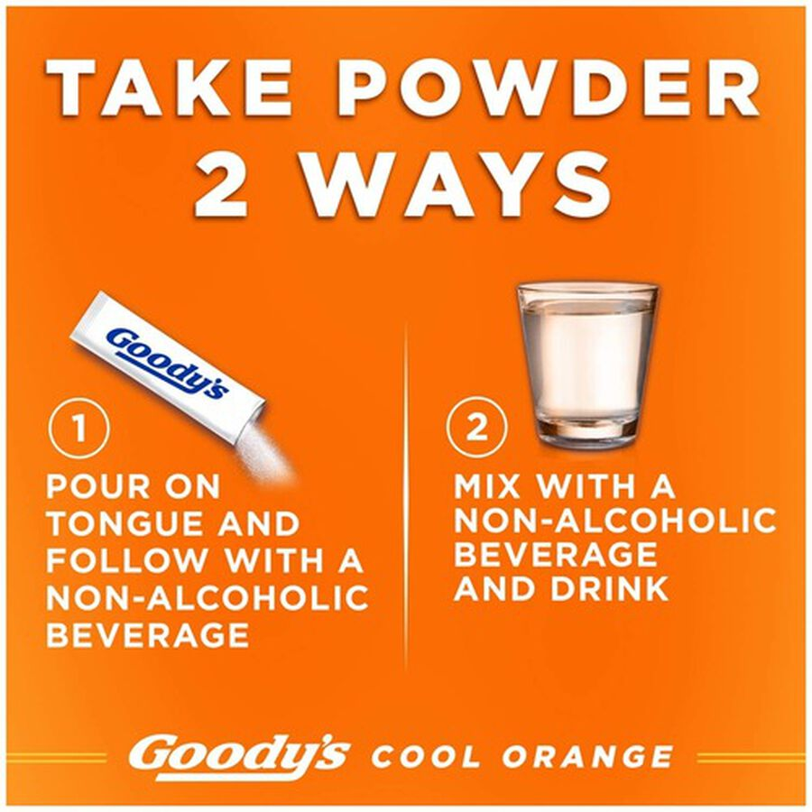 Goody's Cool Orange Acetaminophen / Aspirin Powder Stick, 24ct., , large image number 5