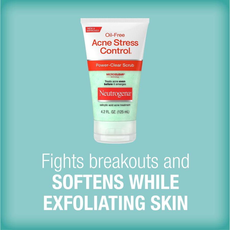 Neutrogena Oil-Free Acne Stress Control Power-Clear Scrub, 4.2 fl oz, , large image number 5