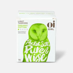 Oi Girl Organic Cotton Tampons with BioCompact Applicator, Light, 16ct