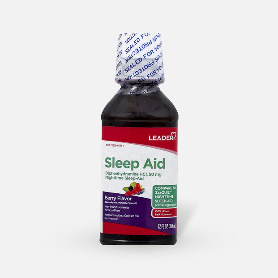 LEADER™ Sleep Aid 50mg Liquid Berry 12 oz, , large image number 0