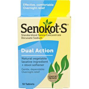Senokot-S Dual Action Laxative and Stool Softener Tablets