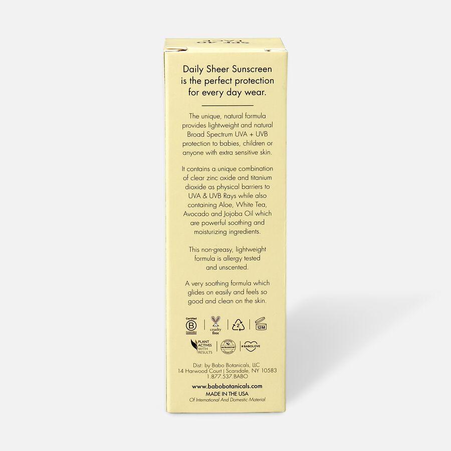 Babo Botanicals Daily Sheer Fragrance Free Facial Sunscreen SPF 40, 1.7 oz, , large image number 2