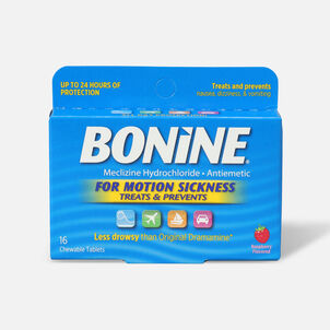 Bonine Motion Sickness Tablets, 16 ct