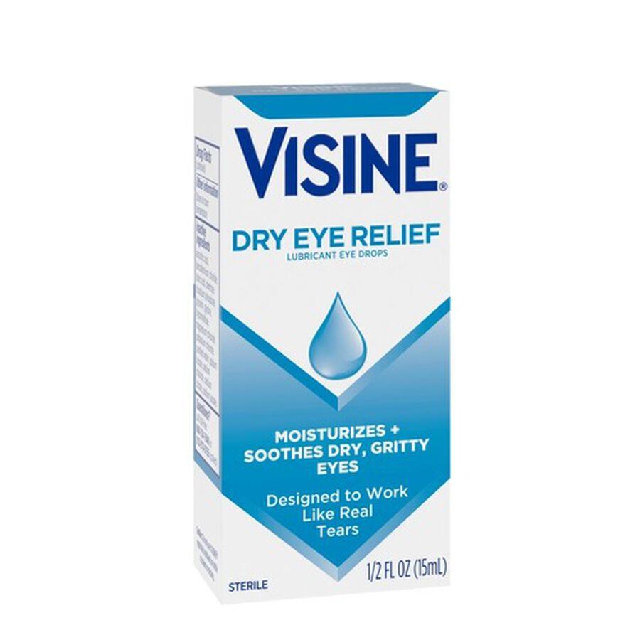 Visine Dry Eye Relief Lubricating Eye Drops for Dry Eyes, 0.5 fl. oz, , large image number 4