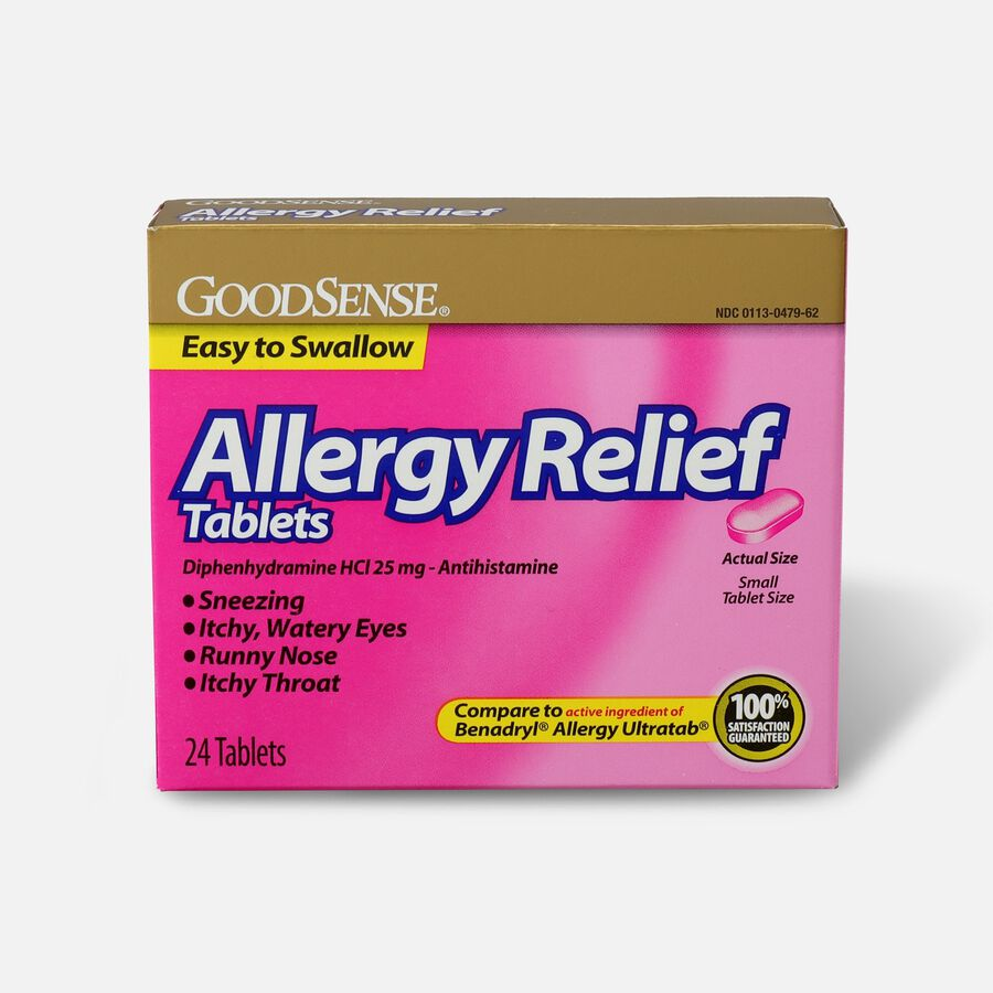 GoodSense® Allergy Relief 25 mg Tablets, 24 ct, , large image number 0